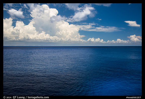 Blue Gulf waters. Cozumel Island, Mexico (color)