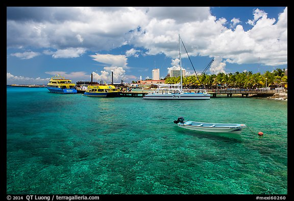 Harbor, Puerta Maya. Cozumel Island, Mexico (color)