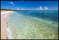 Beach with clear water. Cozumel Island, Mexico ( color)