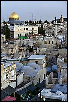 Old town rooftops and Dome of the Rock. Jerusalem, Israel ( color)