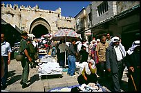 Street market inside the old town next to the Damascus Gate. Jerusalem, Israel
