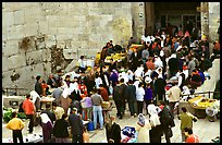 Crowds outside Damascus Gate. Jerusalem, Israel