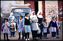 Muslem women and girls, East Jerusalem. Jerusalem, Israel ( color)