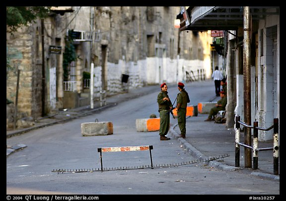 Checkpoint, Hebron. West Bank, Occupied Territories (Israel) (color)