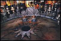 The nativity star in the Church of the Nativity, Bethlehem. West Bank, Occupied Territories (Israel) ( color)