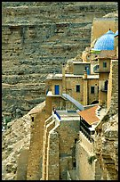 Blue dome of the Mar Saba Monastery. West Bank, Occupied Territories (Israel) ( color)