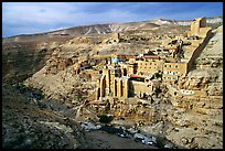 Mar Saba Monastery seen across the Kidron River. West Bank, Occupied Territories (Israel)
