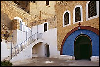 Courtyard inside the Mar Saba Monastery. West Bank, Occupied Territories (Israel) (color)