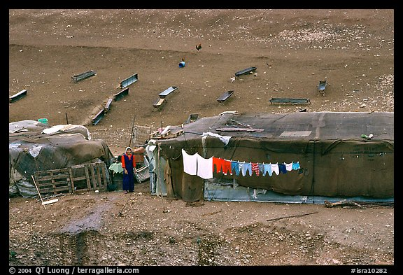 Bedouin camp, Judean Desert. West Bank, Occupied Territories (Israel) (color)