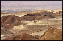 Eroded badlands near Eilat. Negev Desert, Israel (color)