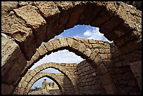Ancient arches, Crusader City,  Caesarea. Israel (color)
