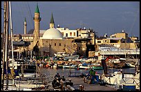 Port and Mosques, Akko (Acre). Israel ( color)