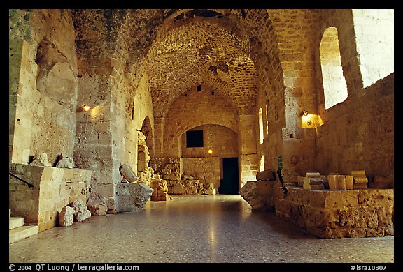 Subtaerranean Crusader City, Akko (Acre). Israel (color)