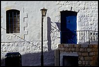Blue door and windows, Synagogue Quarter, Safed (Tsfat). Israel (color)