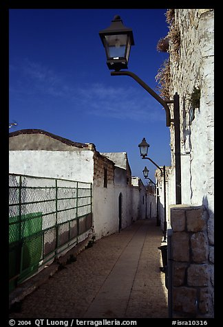 Alley with lanterns, Synagogue Quarter, Safed (Safad). Israel (color)