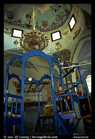 Picture Synagogue Interior Safed Tzfat Israel