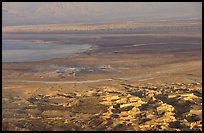 South End of the Dead Sea seen from Masada. Israel ( color)