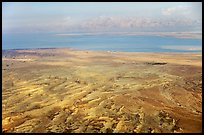 Dead Sea and Jordan seen from Masada. Israel (color)
