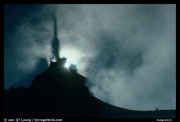 Specter of Broken on Aiguille du Midi, Mont-Blanc range. Alps, France (color)