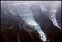 The Bossons glacier, the highest icefall in the Alps. Alps, France (color)