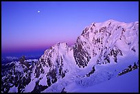 East Face of Mont-Blanc at dawn, Italy. (color)