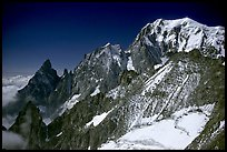 East Face of Mont-Blanc and Peuterey ridge, Italy.