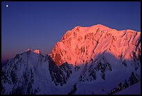 East Face of Mont-Blanc at sunrise, Italy.
