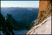 Base of the Central Pilar of Freney, Mont-Blanc, Italy. (color)