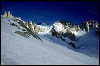 South side of the Courtes-Verte ridge seen from the Talefre Basin. Alps, France (color)