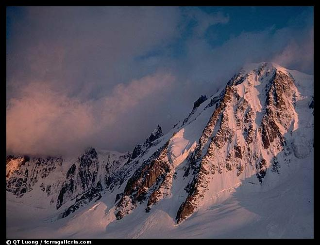 North face of Les Courtes. Alps, France