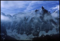 North Face of Aiguille du Midi, Mont-Blanc range, French Alps.