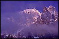 South Face of Mont-Blanc and Freney Pillars, Italy. (color)