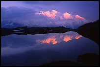 Mont-Blanc range at sunset, French Alps