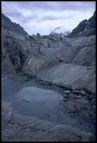 Glacial pool in Mer de Glace. Alps, France