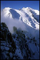 Cosmiques ridge, Tacul and Mont-Blanc.