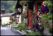 Quaint village of Le Tour, Chamonix Valley, French Alps