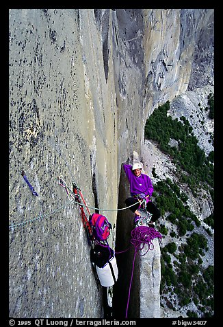 Above Texas Flake. El Capitan, Yosemite, California (color)