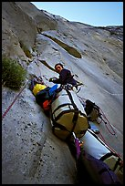 Valerio Folco belaying Tom McMillan