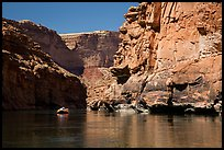 Raft in Marble Canyon. Grand Canyon National Park, Arizona ( color)