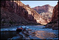Raft dropping into rapids, Marble Canyon. Grand Canyon National Park, Arizona ( color)