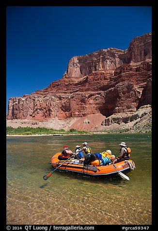 Raft and Nankoweap cliffs. Grand Canyon National Park, Arizona (color)