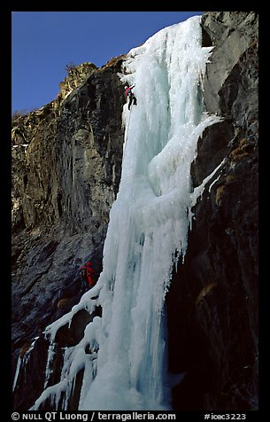 Stalactite of the Moulins Falls, La Grave. Alps, France (color)