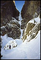Snow traverse and headwall of Polar Circus. Canada