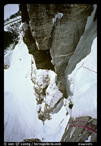 Climbing the headwall of Polar Circus. Canada (color)