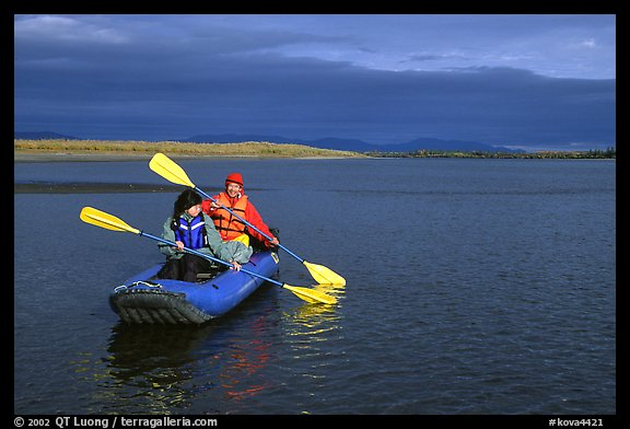 Paddling down the Kobuk River. Kobuk Valley National Park, Alaska