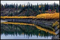 Cabin on the shores of Kobuk River. Kobuk Valley National Park, Alaska (color)