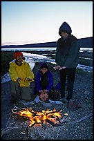 Campfire next to Turquoise Lake. Lake Clark National Park, Alaska (color)