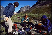 Camp breafast. Lake Clark National Park, Alaska