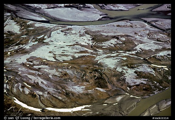 Tundra and marshes seen during the flight. Alaska (color)