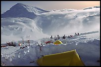 The first important camp, where people gather at a same spot, is found at 11000. Denali, Alaska (color)